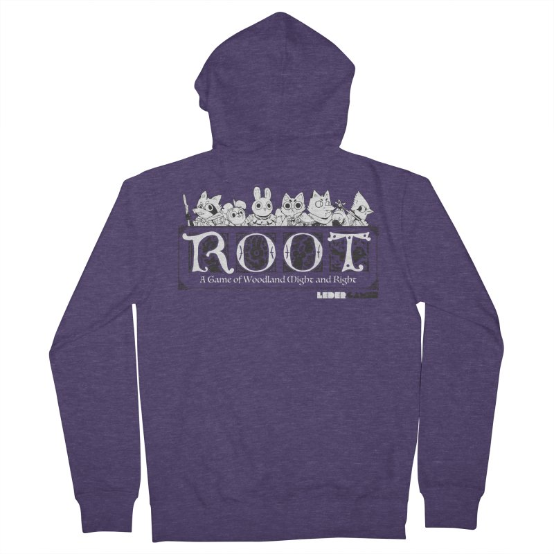 Root Logo Men's French Terry Zip-Up Hoody by Kyle Ferrin's Artist Shop