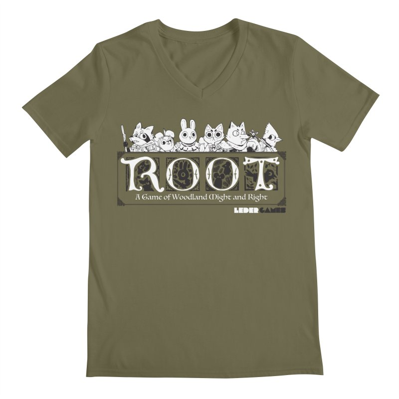 Root Logo Men's Regular V-Neck by Kyle Ferrin's Artist Shop