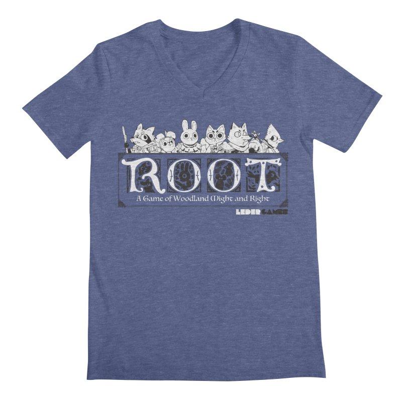 Root Logo Men's Regular V-Neck by Kyle Ferrin's Artist Shop