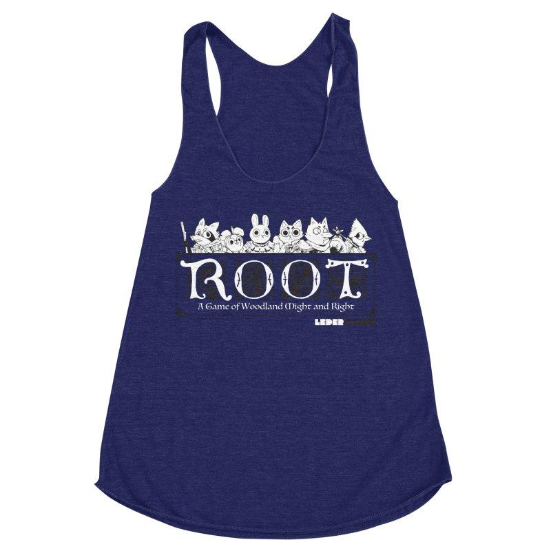 Root Logo Women's Racerback Triblend Tank by Kyle Ferrin's Artist Shop