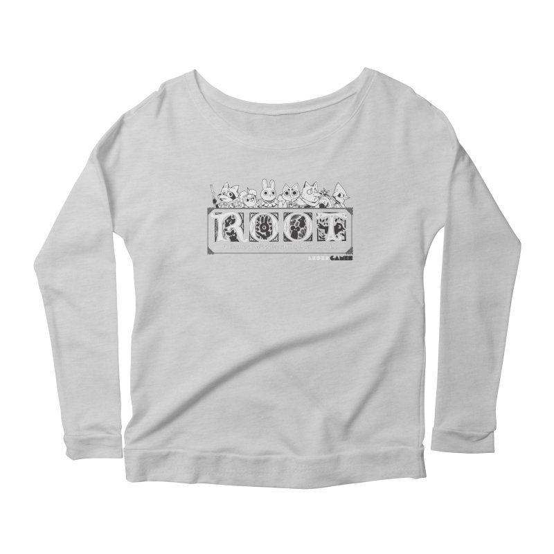 Root Logo Women's Scoop Neck Longsleeve T-Shirt by Kyle Ferrin's Artist Shop