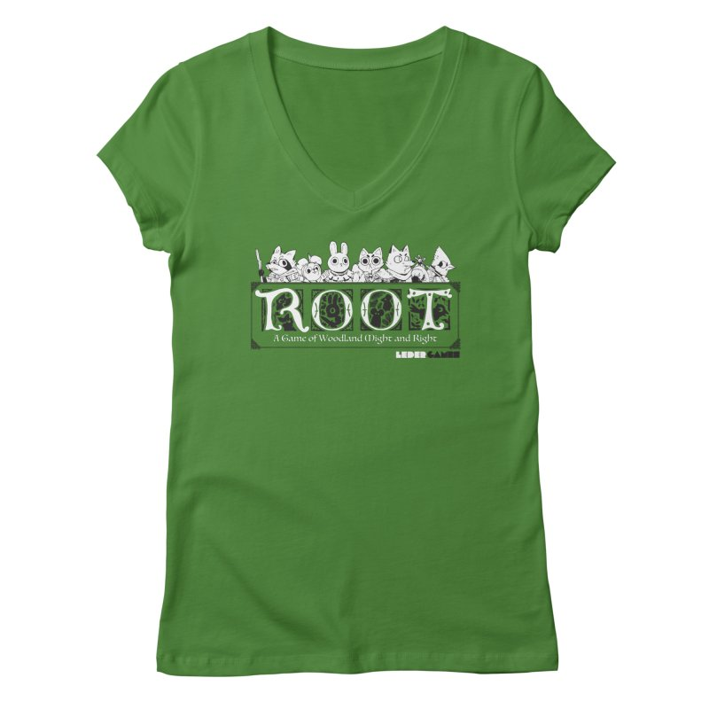 Root Logo Women's Regular V-Neck by Kyle Ferrin's Artist Shop