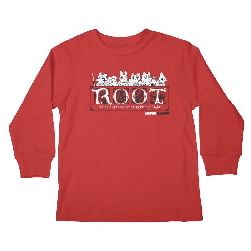 Root Logo Kids Longsleeve T-Shirt by Kyle Ferrin's Artist Shop