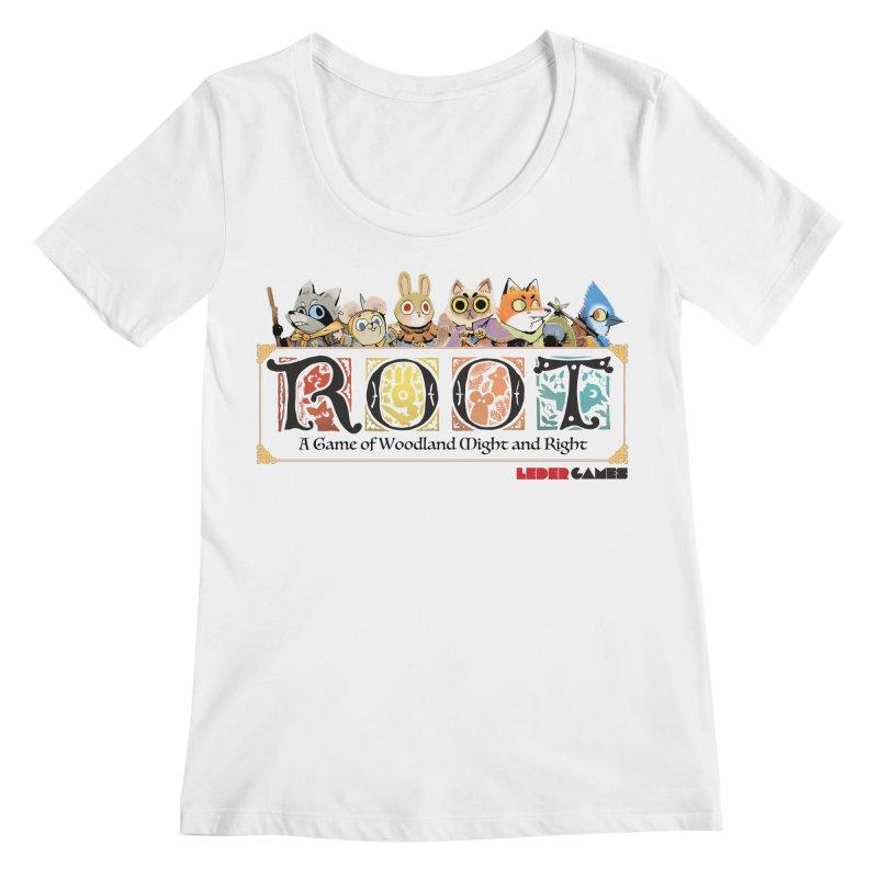 Root Logo - Full Color! Women's Regular Scoop Neck by Kyle Ferrin's Artist Shop