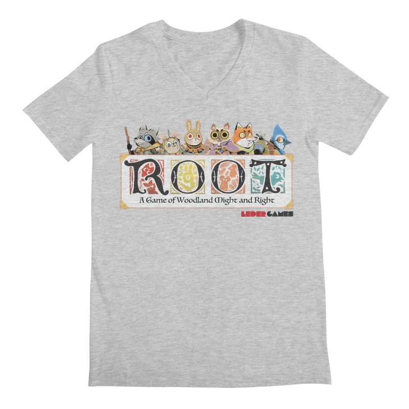 Root Logo - Full Color! Men's Regular V-Neck by Kyle Ferrin's Artist Shop