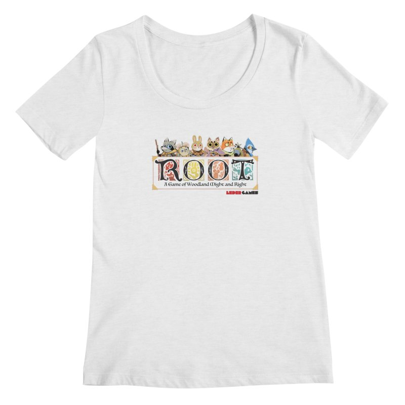 Root Logo - Full Color! Women's Scoopneck by Kyle Ferrin's Artist Shop