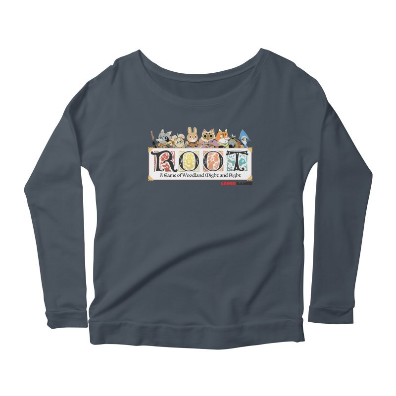 Root Logo - Full Color! Women's Scoop Neck Longsleeve T-Shirt by Kyle Ferrin's Artist Shop