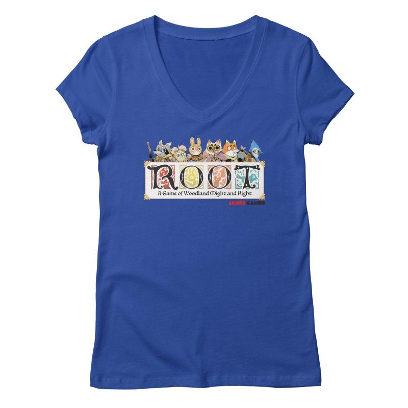 Root Logo - Full Color! Women's V-Neck by Kyle Ferrin's Artist Shop