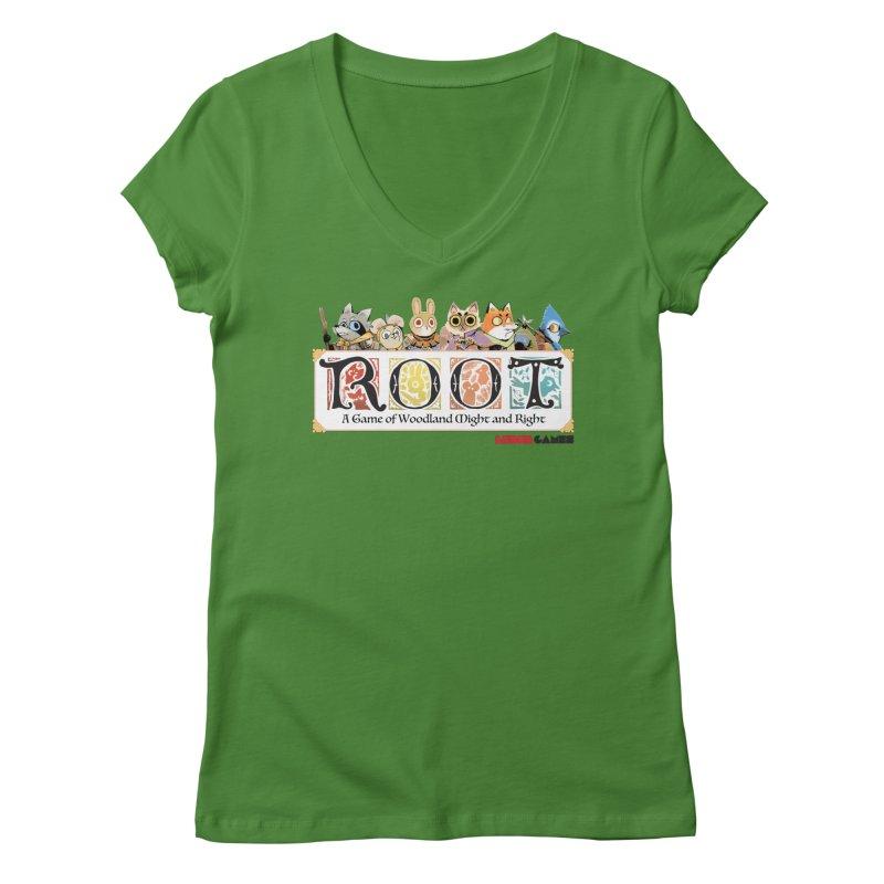 Root Logo - Full Color! Women's Regular V-Neck by Kyle Ferrin's Artist Shop