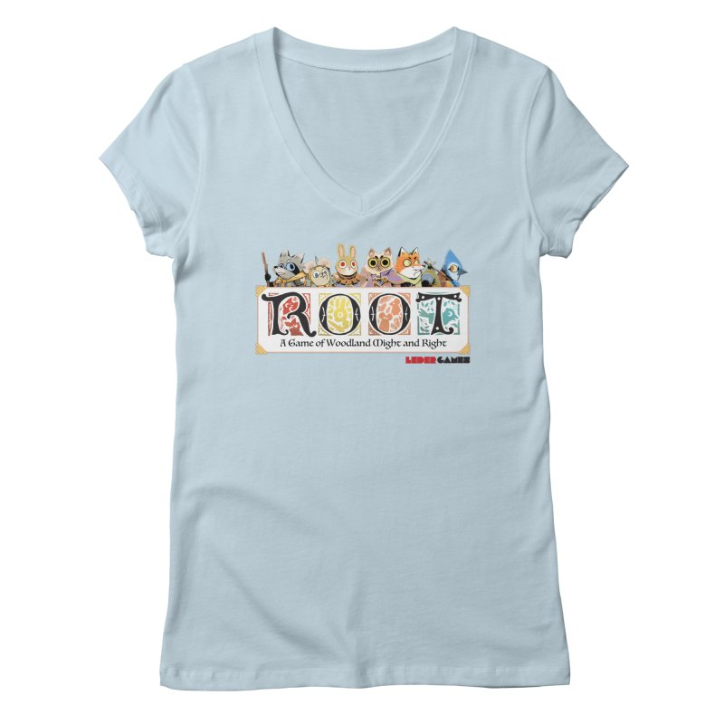 Root Logo - Full Color! Women's V-Neck by Kyle Ferrin's Artist Shop