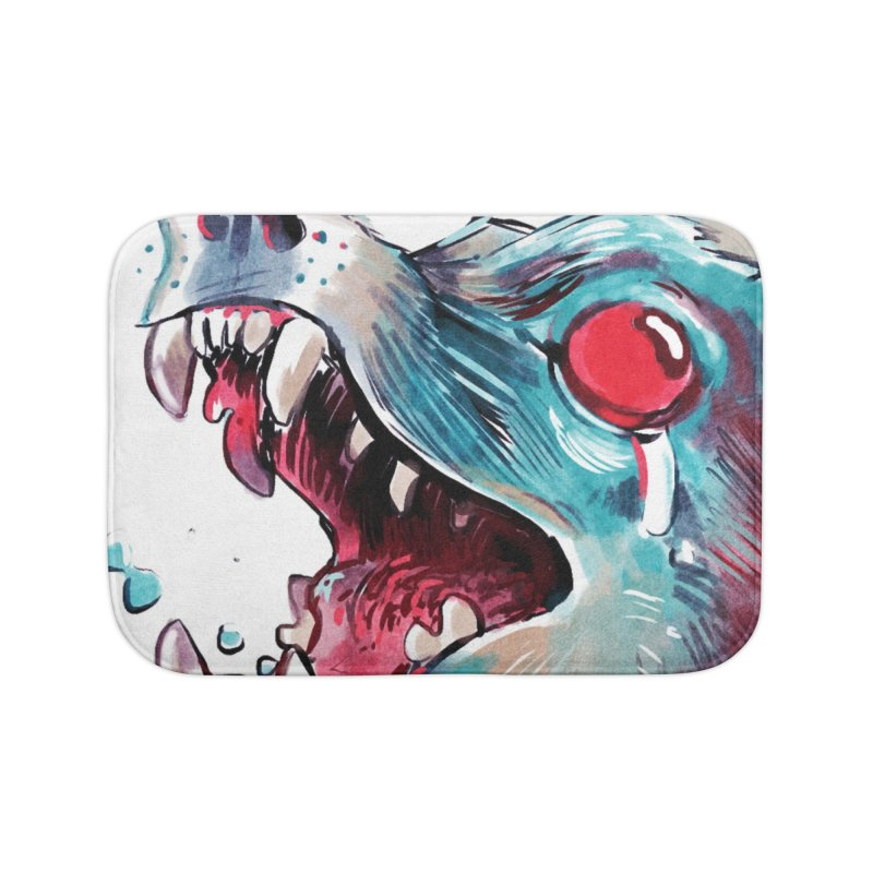 Weekend Wolf Home Bath Mat by Kyle Ferrin's Artist Shop