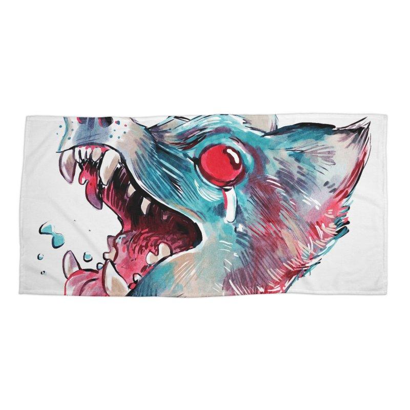 Weekend Wolf Accessories Beach Towel by Kyle Ferrin's Artist Shop