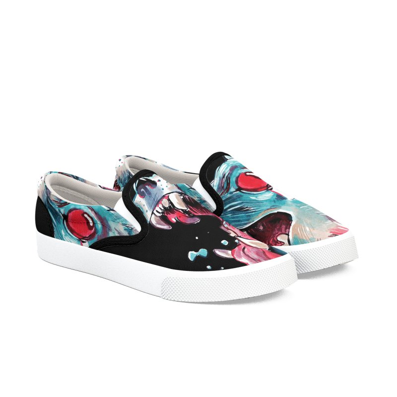 Weekend Wolf Men's Slip-On Shoes by Kyle Ferrin's Artist Shop