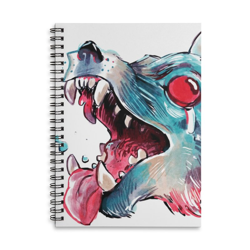 Weekend Wolf Accessories Lined Spiral Notebook by Kyle Ferrin's Artist Shop
