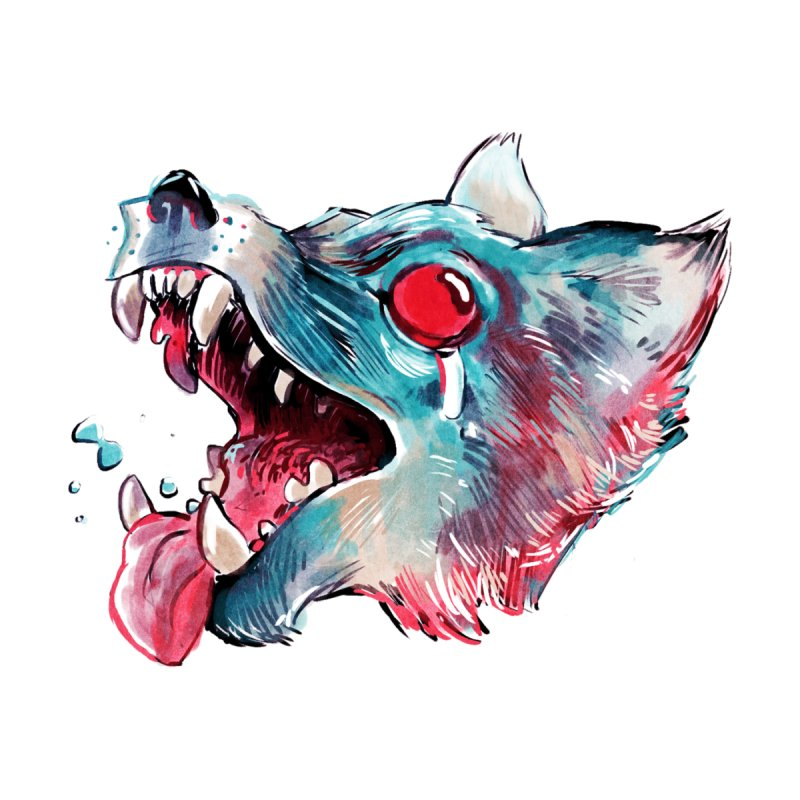 Weekend Wolf Accessories Beach Towel by Kyle Ferrin's Artist Shop