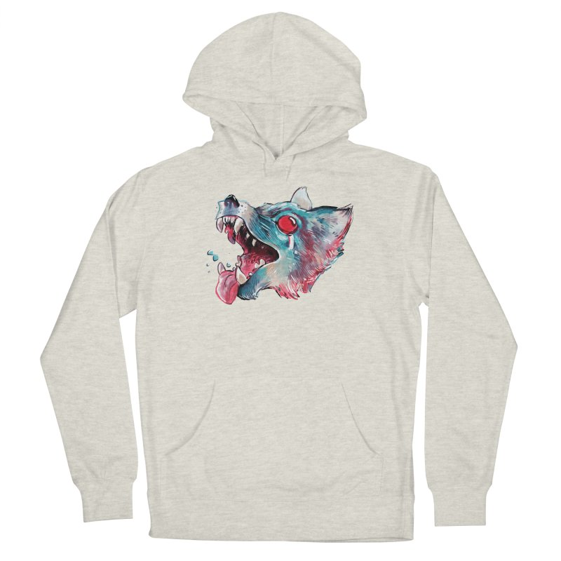Weekend Wolf Women's French Terry Pullover Hoody by Kyle Ferrin's Artist Shop