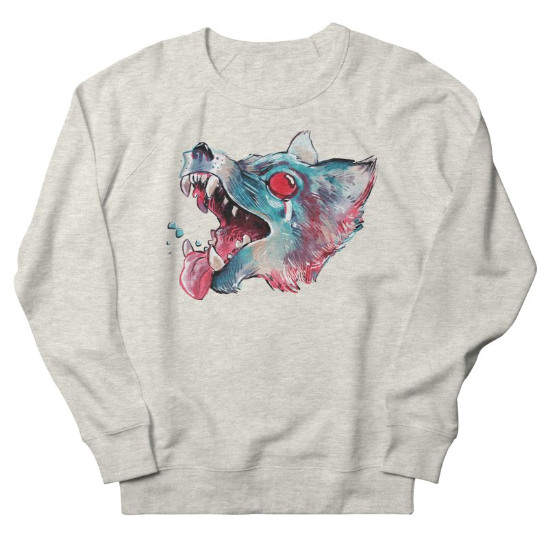 Weekend Wolf Women's French Terry Sweatshirt by Kyle Ferrin's Artist Shop