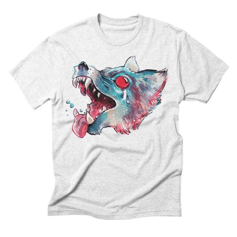 Weekend Wolf Men's Triblend T-shirt by Kyle Ferrin's Artist Shop
