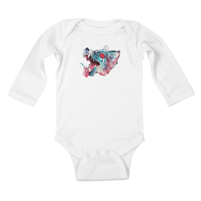 Weekend Wolf Kids Baby Longsleeve Bodysuit by Kyle Ferrin's Artist Shop