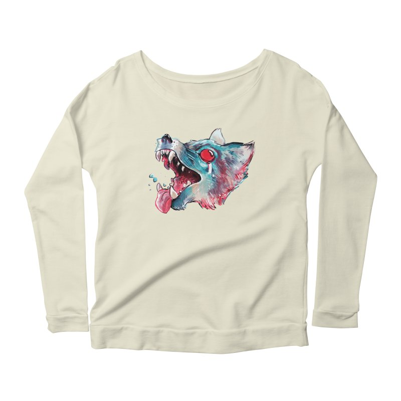 Weekend Wolf Women's Scoop Neck Longsleeve T-Shirt by Kyle Ferrin's Artist Shop