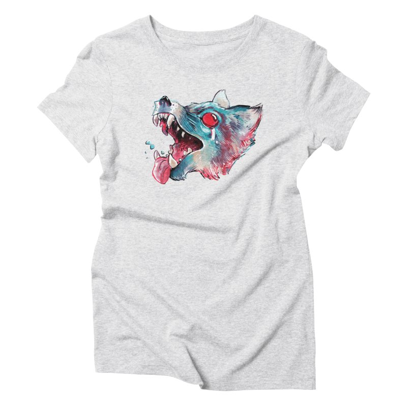 Weekend Wolf Women's Triblend T-shirt by Kyle Ferrin's Artist Shop