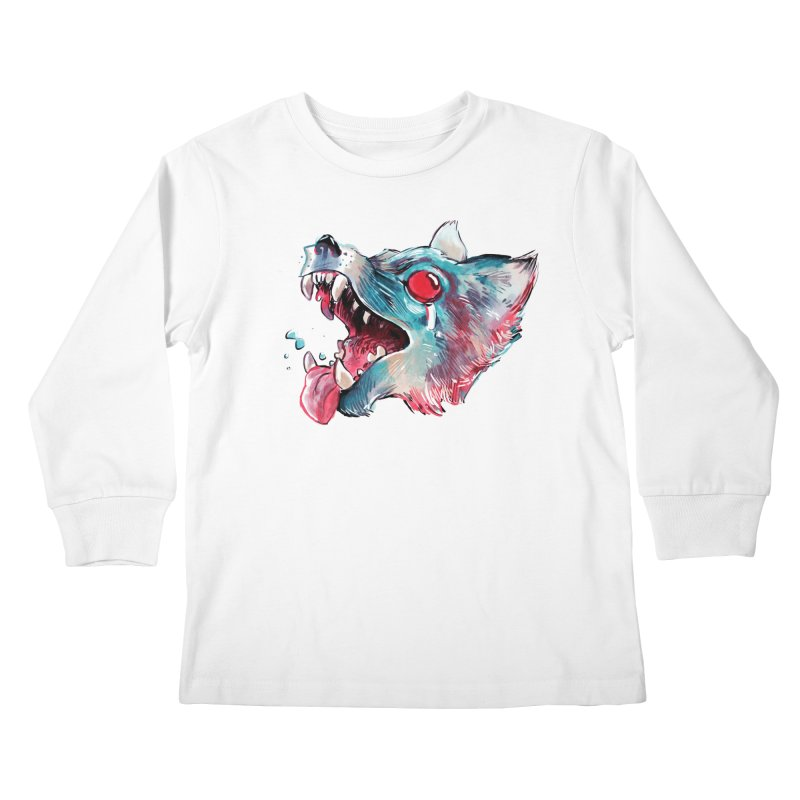 Weekend Wolf Kids Longsleeve T-Shirt by Kyle Ferrin's Artist Shop