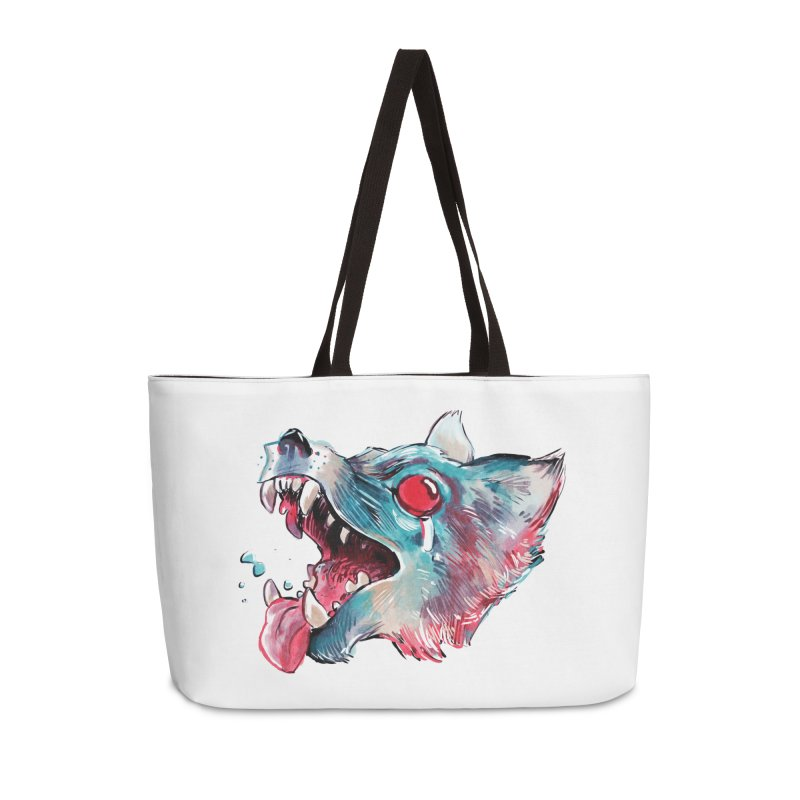 Weekend Wolf Accessories Bag by Kyle Ferrin's Artist Shop
