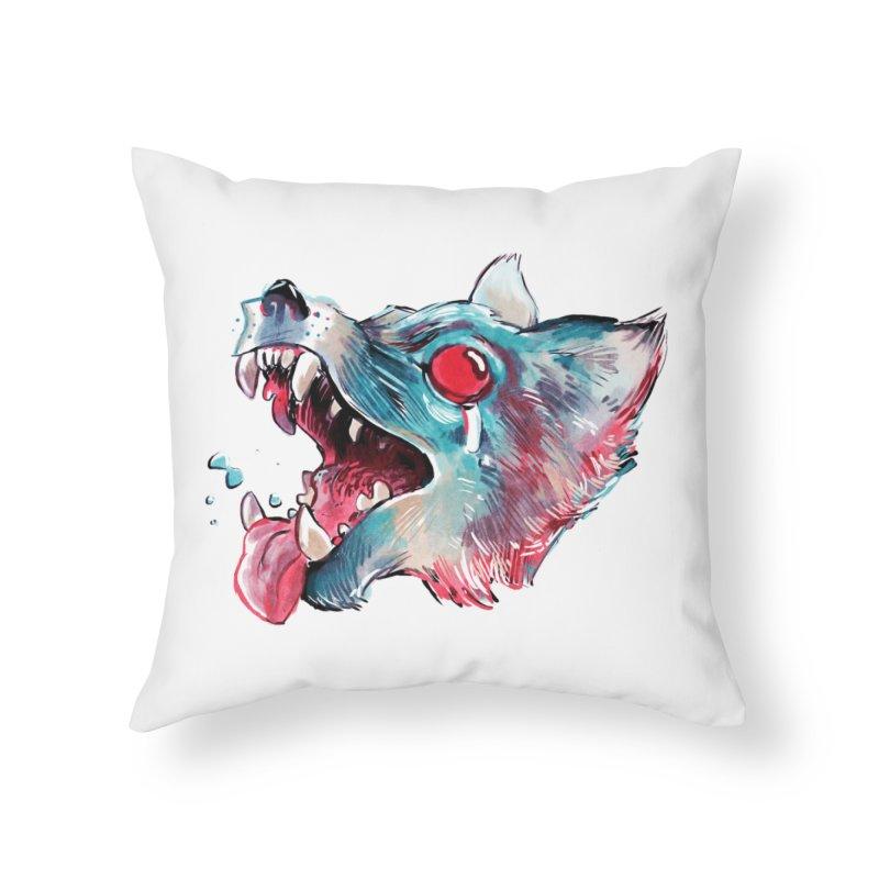 Weekend Wolf Home Throw Pillow by Kyle Ferrin's Artist Shop