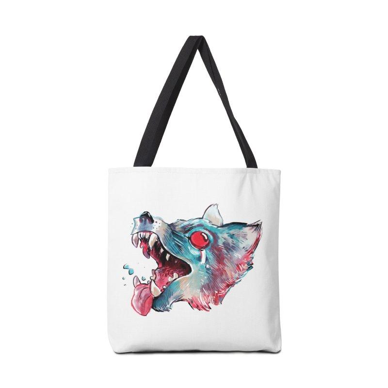 Weekend Wolf Accessories Bag by Kyle Ferrin's Artist Shop