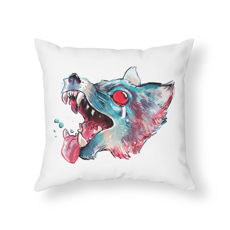 Weekend Wolf Home Throw Pillow by Kyle Ferrin's Artist Shop