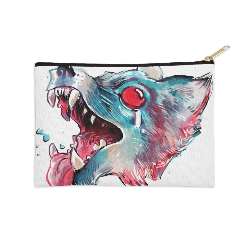 Weekend Wolf Accessories Zip Pouch by Kyle Ferrin's Artist Shop