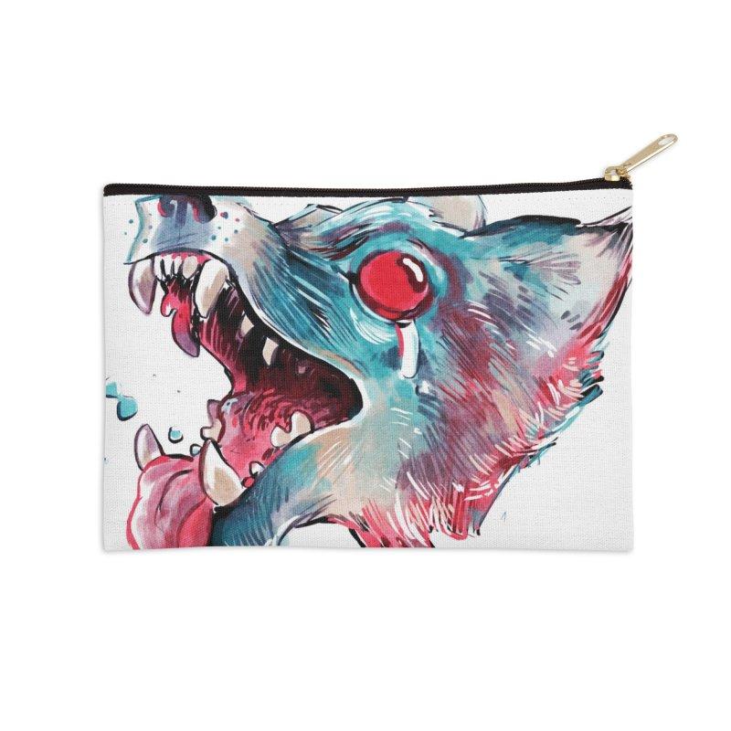 Weekend Wolf Accessories Zip Pouch by Kyle Ferrin's Artist Shop