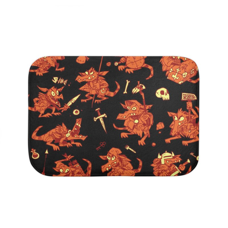 Kobold Party Home Bath Mat by Kyle Ferrin's Artist Shop