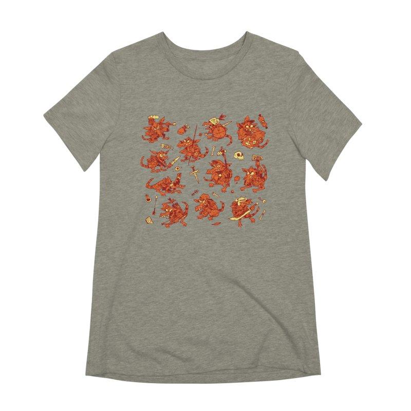 Kobold Party Women's Extra Soft T-Shirt by Kyle Ferrin's Artist Shop