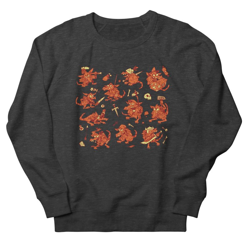Kobold Party Men's French Terry Sweatshirt by Kyle Ferrin's Artist Shop