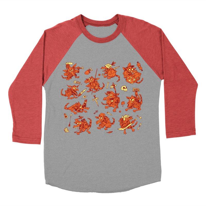 Kobold Party Women's Baseball Triblend Longsleeve T-Shirt by Kyle Ferrin's Artist Shop