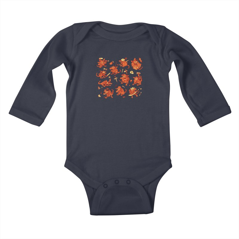 Kobold Party Kids Baby Longsleeve Bodysuit by Kyle Ferrin's Artist Shop