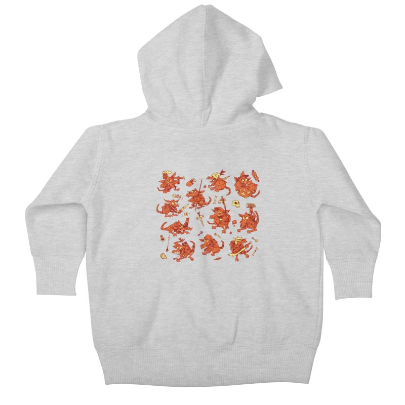 Kobold Party Kids Baby Zip-Up Hoody by Kyle Ferrin's Artist Shop