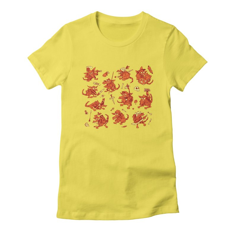 Kobold Party Women's Fitted T-Shirt by Kyle Ferrin's Artist Shop