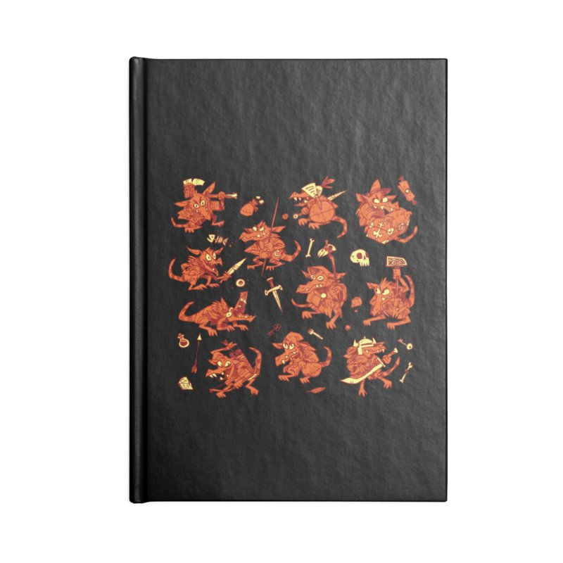 Kobold Party Accessories Lined Journal Notebook by Kyle Ferrin's Artist Shop