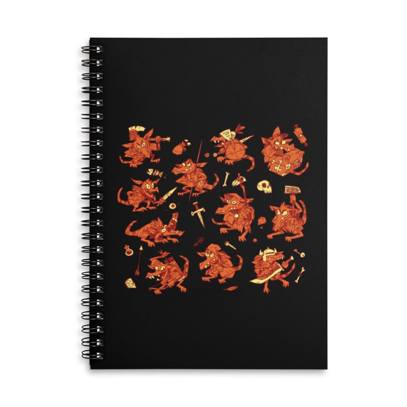 Kobold Party Accessories Lined Spiral Notebook by Kyle Ferrin's Artist Shop