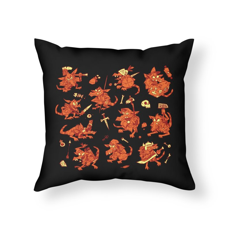 Kobold Party Home Throw Pillow by Kyle Ferrin's Artist Shop
