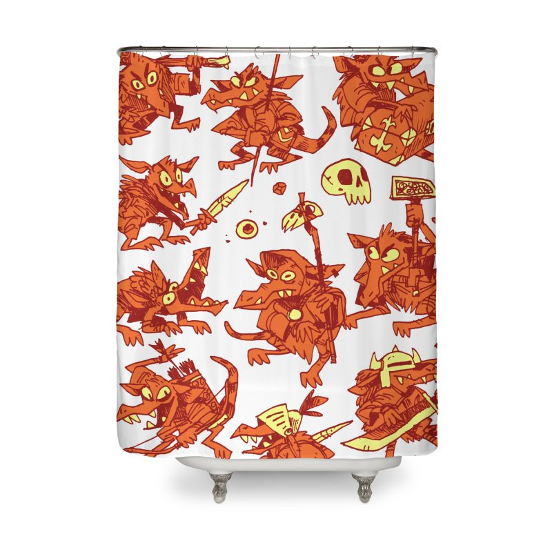 Kobold Party Home Shower Curtain by Kyle Ferrin's Artist Shop