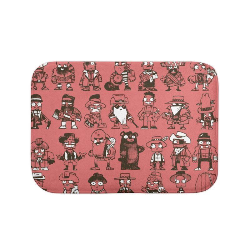 Mostly Cowboys Home Bath Mat by Kyle Ferrin's Artist Shop