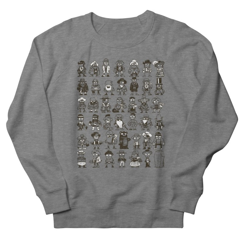 Mostly Cowboys Men's French Terry Sweatshirt by Kyle Ferrin's Artist Shop
