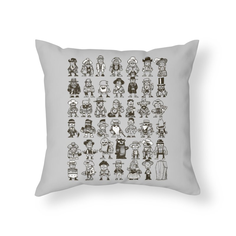 Mostly Cowboys Home Throw Pillow by Kyle Ferrin's Artist Shop