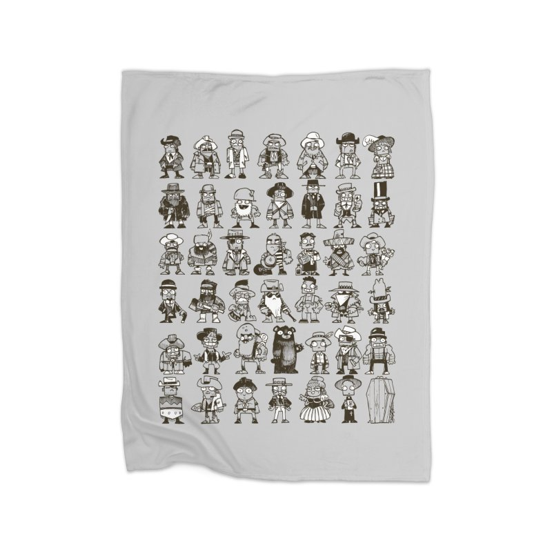 Mostly Cowboys Home Fleece Blanket Blanket by Kyle Ferrin's Artist Shop
