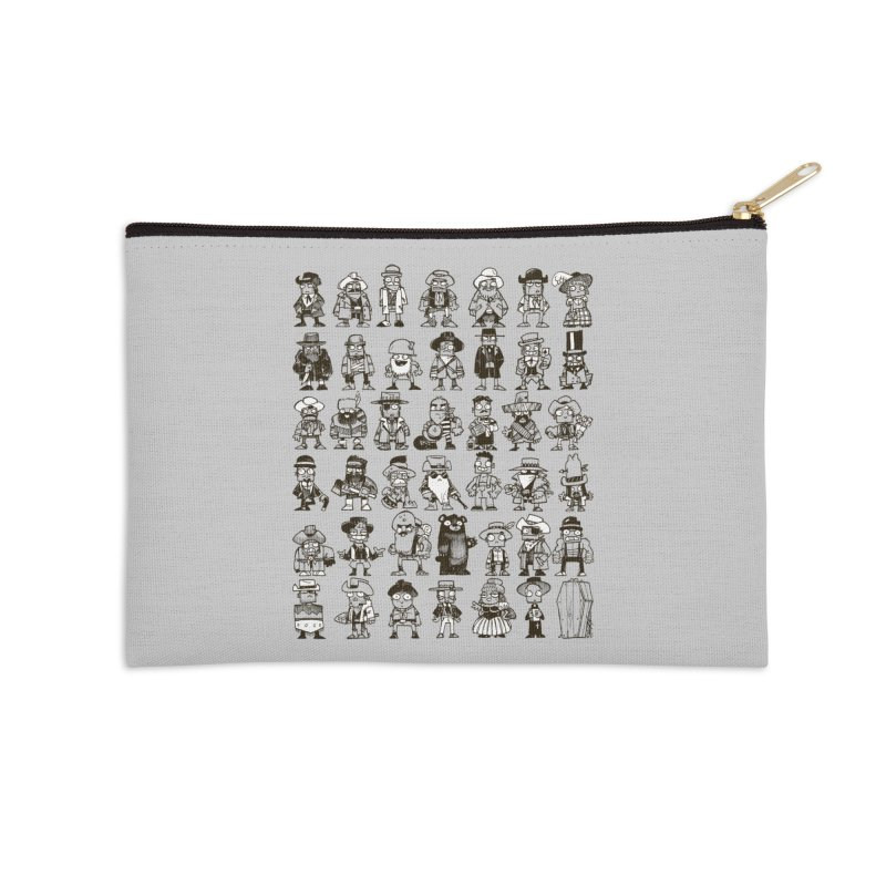 Mostly Cowboys Accessories Zip Pouch by Kyle Ferrin's Artist Shop