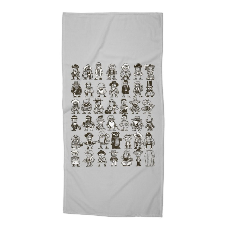 Mostly Cowboys Accessories Beach Towel by Kyle Ferrin's Artist Shop