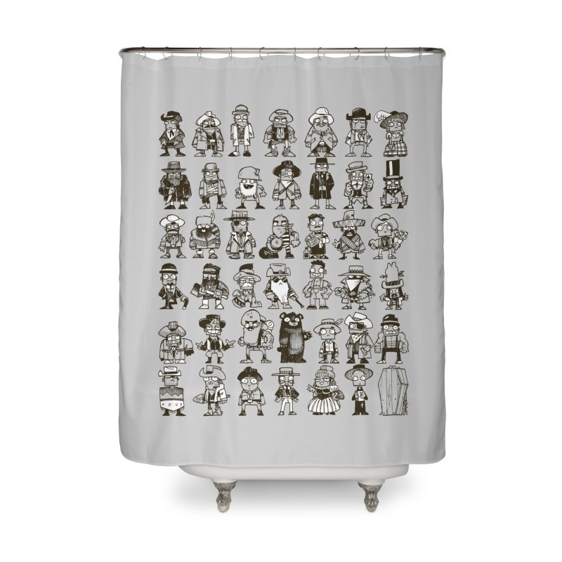 Mostly Cowboys Home Shower Curtain by Kyle Ferrin's Artist Shop